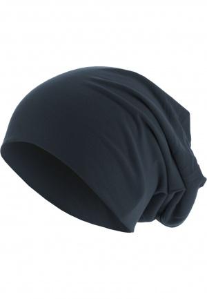 Uprock Headwear Vertrieb Jersey Beanie Darknavy Melange Sommer